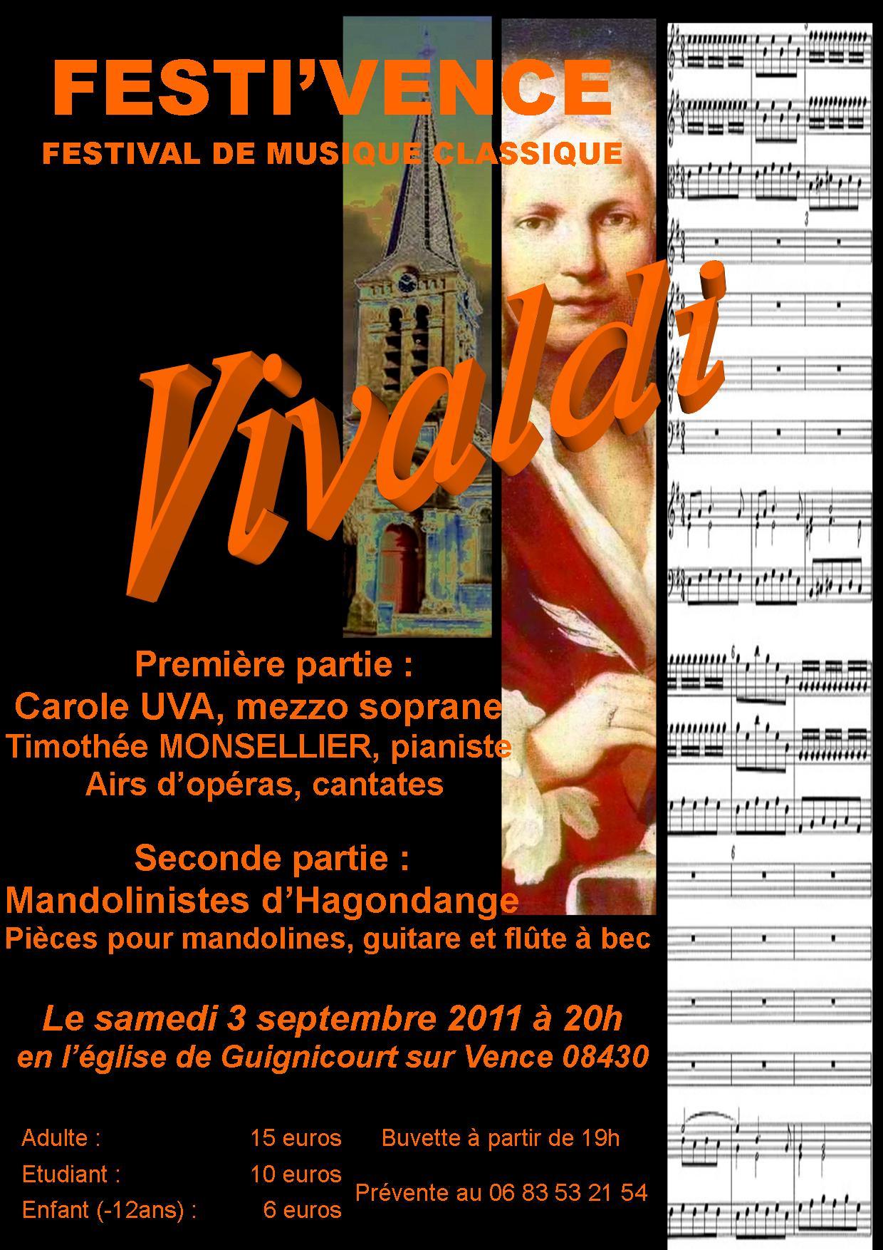 L'affiche du concert  du 03septembre 2011